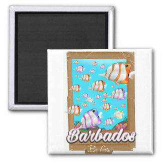 Barbados Tropical Fish travel poster Magnet