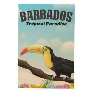 Barbados Tropical Paradise travel poster