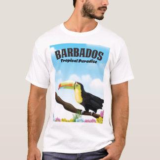 Barbados Tropical Paradise travel poster T-Shirt