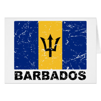 Barbados Vintage Flag Card