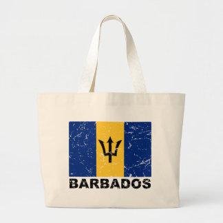 Barbados Vintage Flag Jumbo Tote Bag