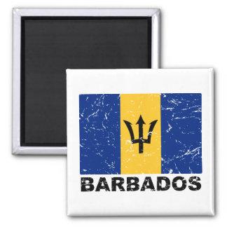 Barbados Vintage Flag Magnet