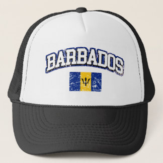 Barbados Vintage Flag Trucker Hat