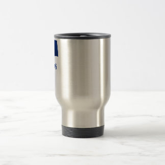 Barbados Waving Flag with Name Travel Mug