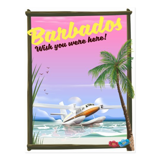 Barbados - wish you were here! postcard