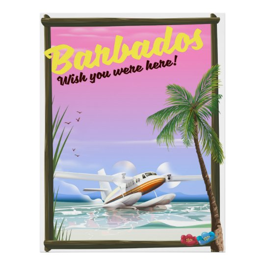 Barbados - wish you were here! poster
