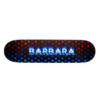 Barbara blue fire Skatersollie skateboard.