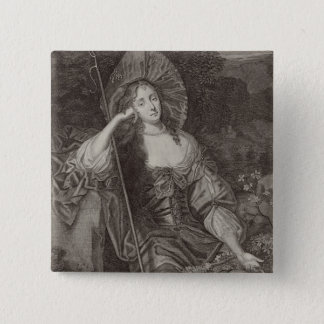 Barbara Duchess of Cleaveland (1641-1709) as a She 15 Cm Square Badge