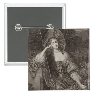 Barbara Duchess of Cleaveland (1641-1709) as a She 15 Cm Square Badge