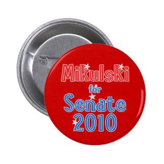 Barbara Mikulski for Senate 2010 Star Design Pinback Button