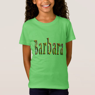Barbara, Name, Logo, Girls Green Tshirt