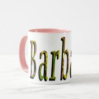 Barbara, Name, Logo, Pink Combo Coffee Mug. Mug