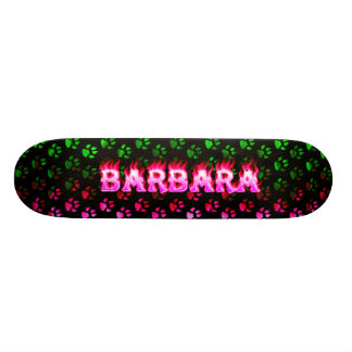 Barbara pink fire Skatersollie skateboard.