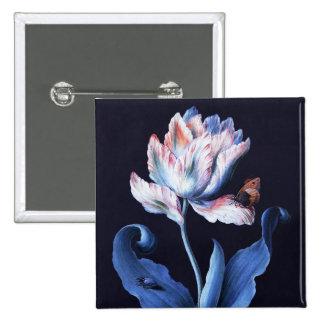 Barbara Regina Dietzsch: Parrot Tulip 15 Cm Square Badge