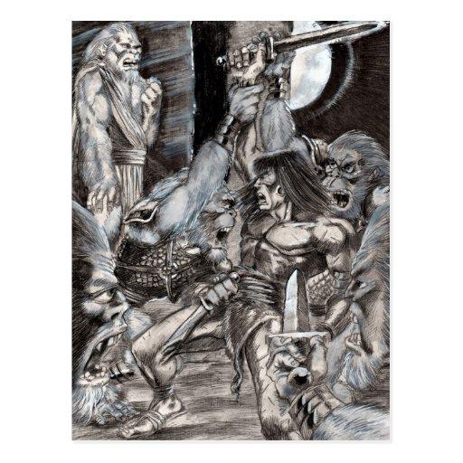 Barbarian Apocalypse Art 002 Post Cards