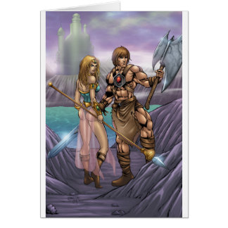 Barbarian Art Greeting Card