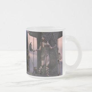 Barbarian Girl Aliya Frosted Glass Coffee Mug