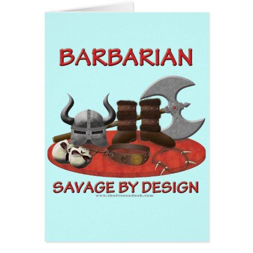 Barbarian: Savage by Design Greeting Card
