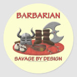 Barbarian: Savage by Design Round Sticker