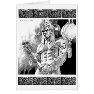 Barbarian Warrior Greeting Card