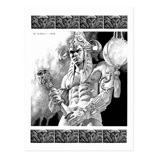 Barbarian Warrior Postcard