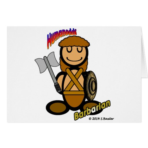 Barbarian (with logos) greeting cards