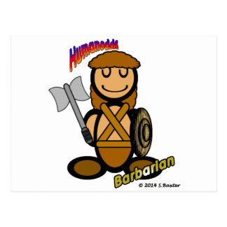 Barbarian (with logos) postcard