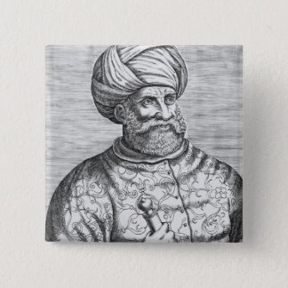 Barbarossa, illustration from Andre Thevet's 15 Cm Square Badge