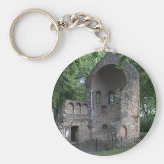Barbarossa ruins basic round button key ring