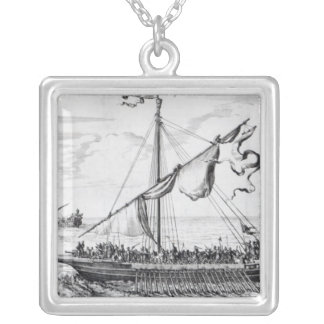 Barbary Galleys Silver Plated Necklace