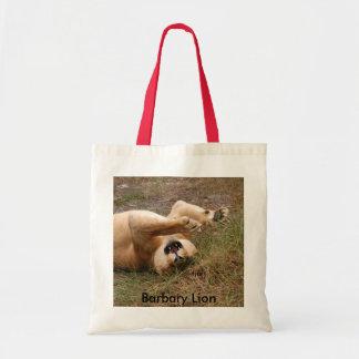 Barbary Lion-nap-021, Barbary Lion Budget Tote Bag