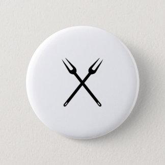 barbecue 6 cm round badge