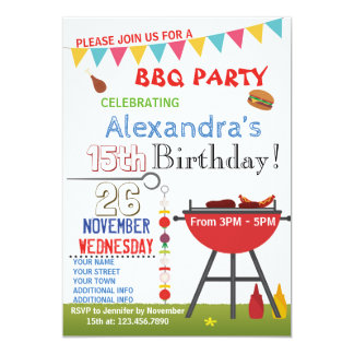 BARBECUE BIRTHDAY INVITATION FOR SNUBODY