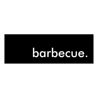 barbecue. business card templates