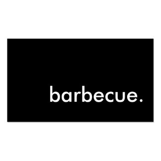barbecue. business card template