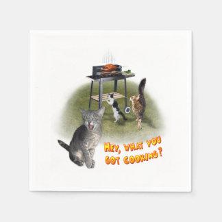 Barbecue Cats Paper Napkins