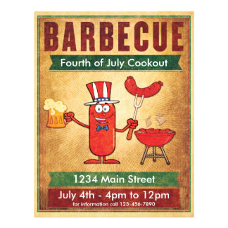 Barbecue Fourth of July Cookout Flyer