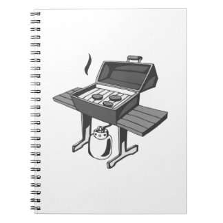 Barbecue Grill Spiral Notebook