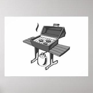 Barbecue Grill Print