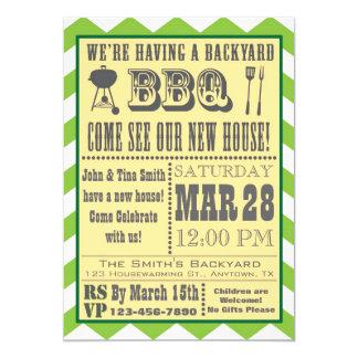 Barbecue Housewarming Invitation