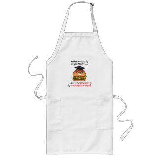 Barbecue is importanter funny angry burger apron