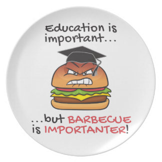 Barbecue is importanter funny angry burger dinner plates