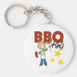 Barbecue King Gift Basic Round Button Key Ring