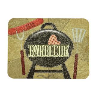 Barbecue Menu Rectangular Photo Magnet