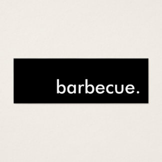 barbecue. mini business card