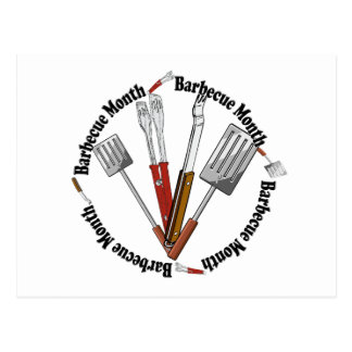 Barbecue Month - Chef Tools Postcard