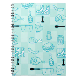 Barbecue Party background Notebook Note Book