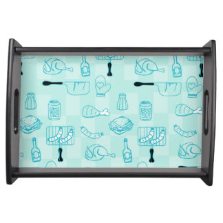 Barbecue Party background tray