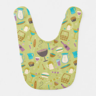 Barbecue Pattern Baby Bibs