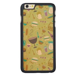 Barbecue Pattern Carved Maple iPhone 6 Plus Case